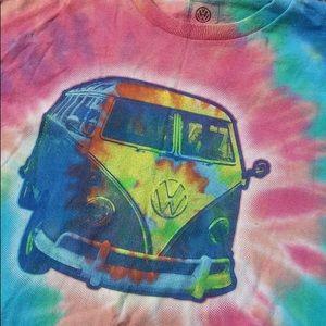 Vintage Tie-dye VW Volkswagen Bus T-shirt